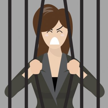 Business woman try to escape from prison
