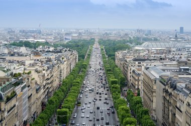Champs Elysees from the Arc de Triomphe in Paris