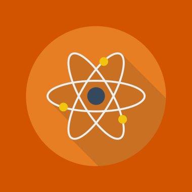 Education Flat Icon. Atom