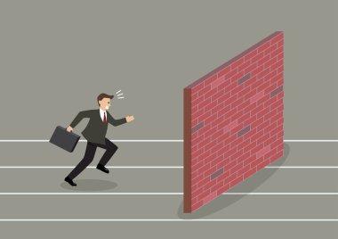 Businessman race to dead end