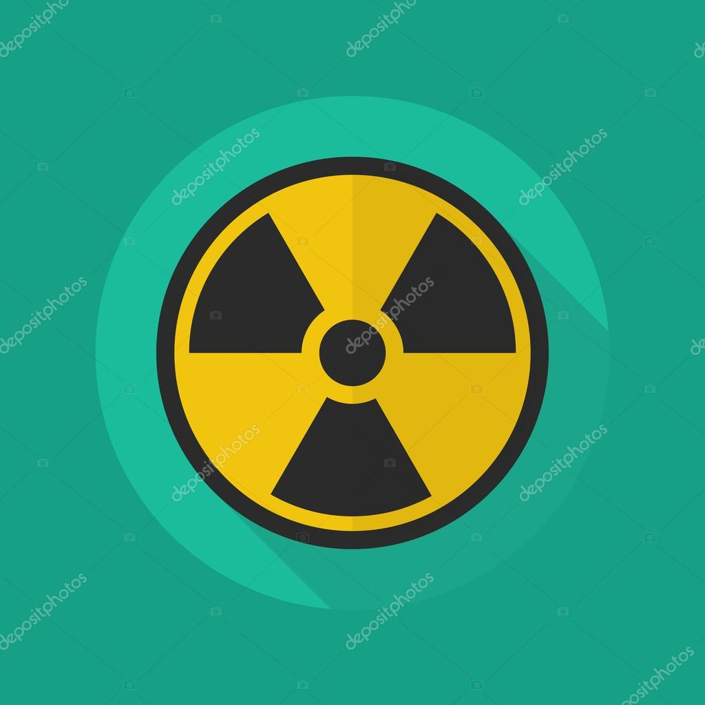 Medical Flat Icon Radiation Symbol Stock Vector Siraanamwong
