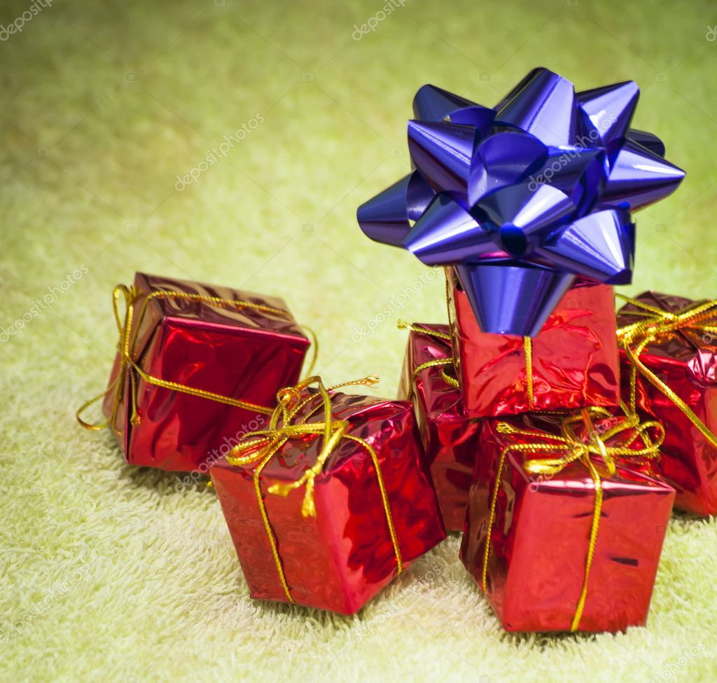 Gift packages for a party such as Christmas or birthday u2014 Stock Photo & Gift packages for a party such as Christmas or birthday u2014 Stock ...