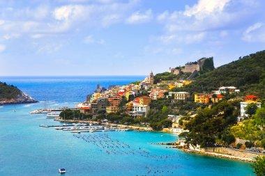 Portovenere village on the sea. Cinque terre, Ligury Italy