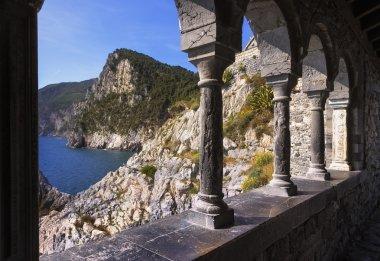 Portovenere, coast view from San Pietro church. Cinque terre, Li
