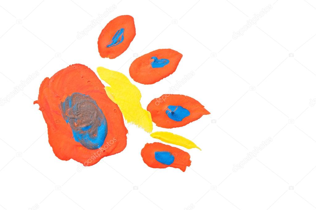 Disegno Di Un Bambino : Disegno di impronta di un animale un bambino u2014 foto stock © taddeus
