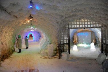 Permafrost ice museum tunnel at Yakutsk underground