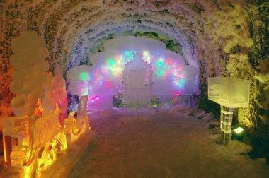 Underground permafrost ice cave
