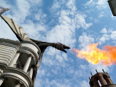 Dragon at Diagon Alley near the Harry Potter ride at Universal S