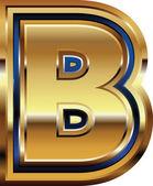 Zlaté písmo písmeno B