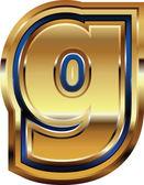 Photo Golden Font Letter g