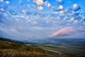 Fotografie Krajina v západu slunce - Dobrudža, Rumunsko
