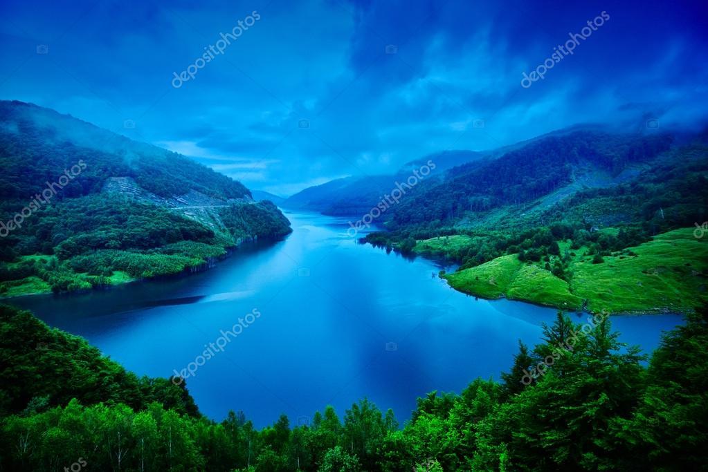 beautiful landscape from Siriu barrage