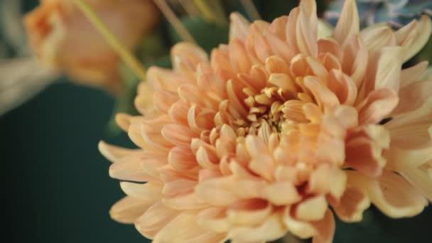 Őszi buja csokor különböző virágokból. Száraz kompozíciók és csokrok virágokból és növényekből a belső tér számára.