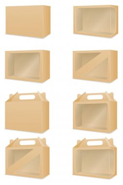 Brown cardboardfor packaging goods and gifts box vector illustration isolated on white background icon