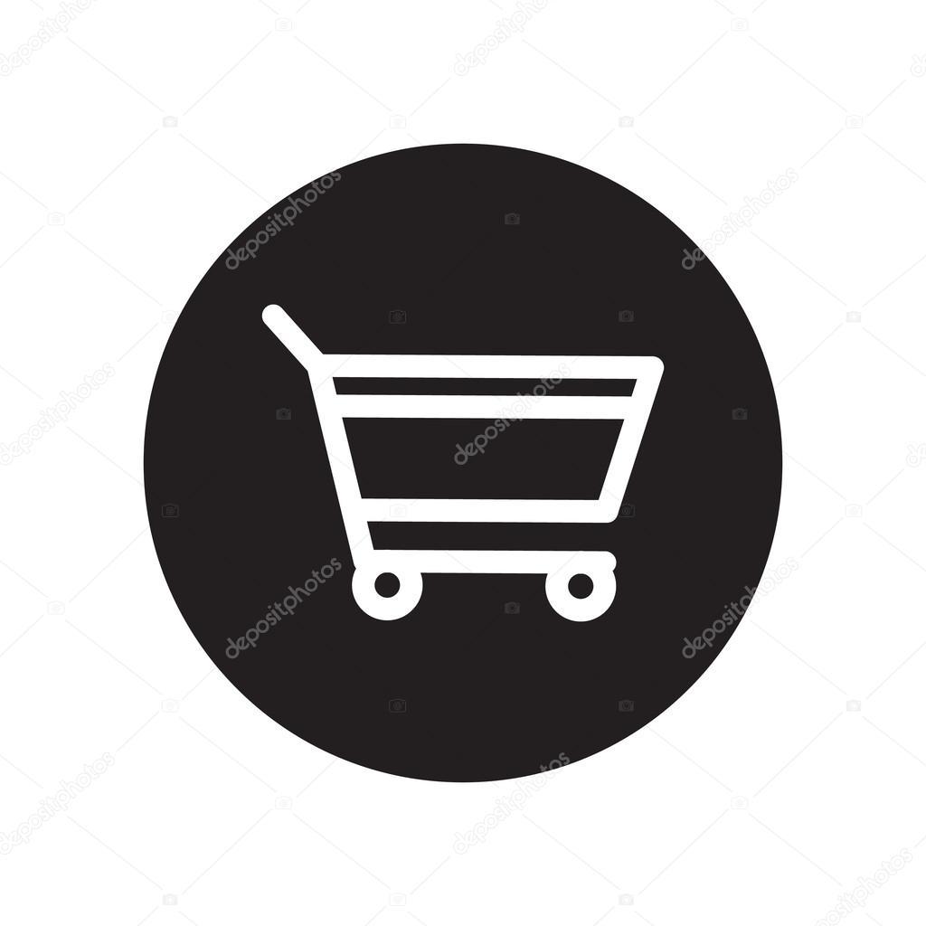 7a46ea9ca63 Zwart-wit toevoegen aan winkelwagen, klassieke platte pictogram.  Vectorillustratie — Vector van ...