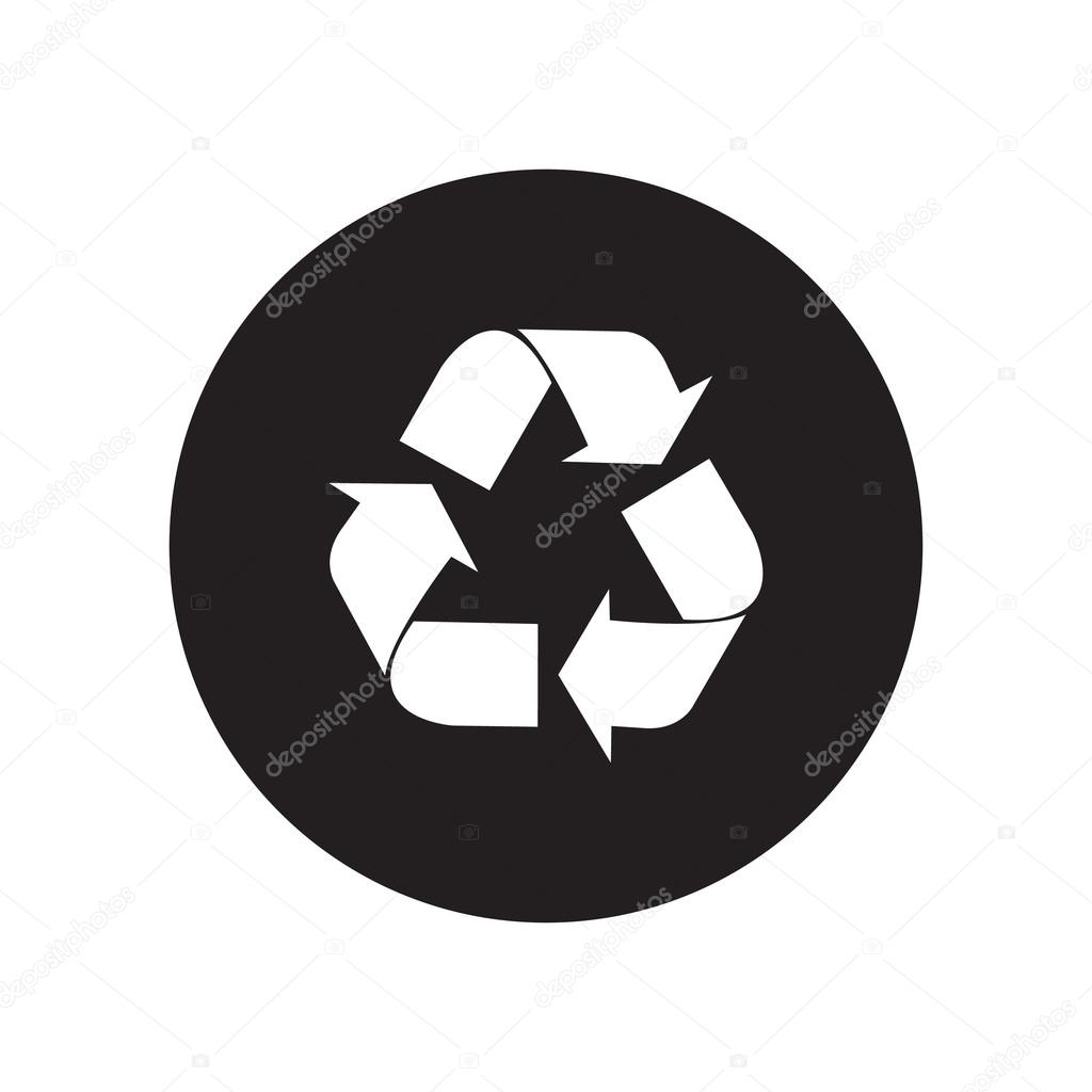 Black and white vector recycle symbol recycle classic flat icon black and white vector recycle symbol recycle classic flat icon vector illustration vector by chortenya buycottarizona Choice Image