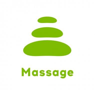 Spa - a beauty salon. Stone pyramid as a symbol - of balance and harmony. Template Logo Design for beauty salon, spa center, beauty treatments, massages etc..