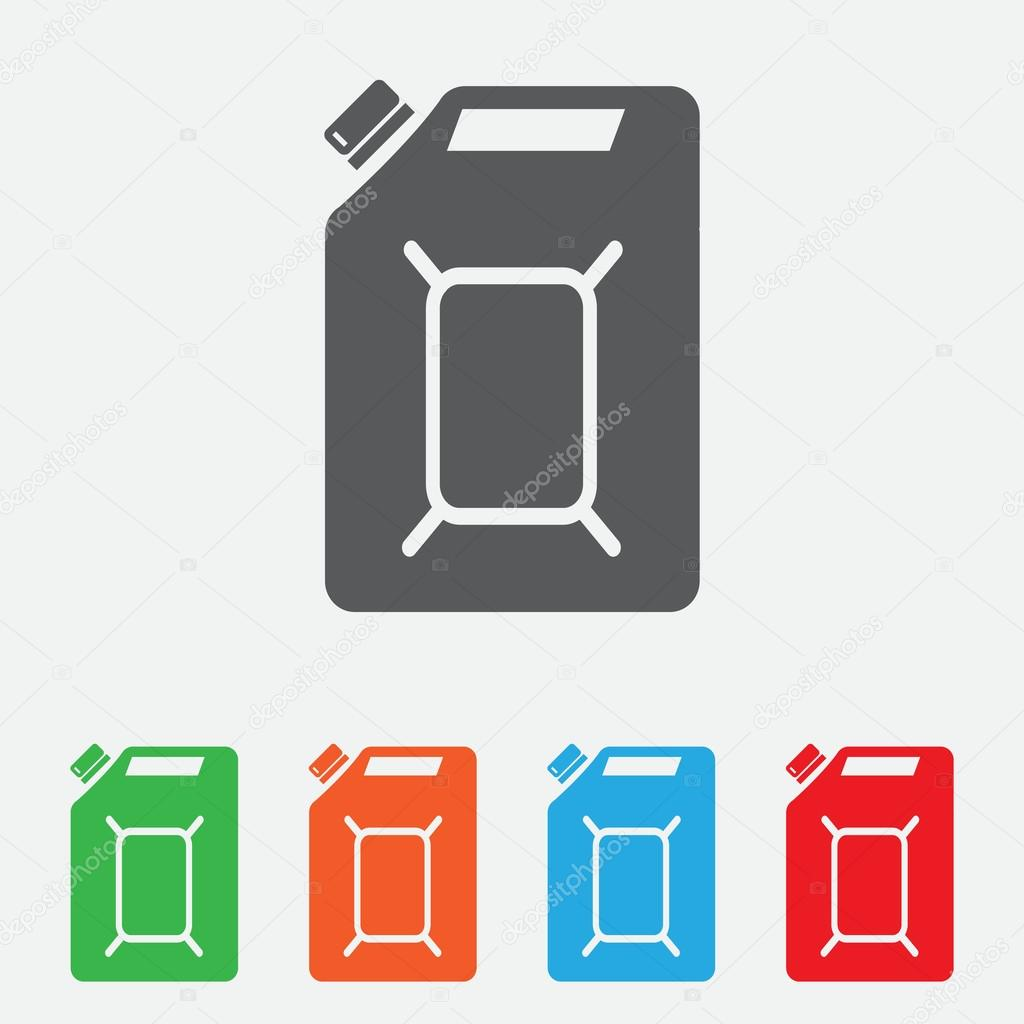 gasoline vector logo design template. Jerry can of petrol or oil icon. color icon