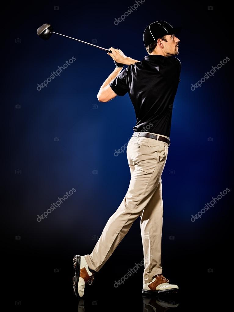 golfista hombre Golf aislado — Fotos de Stock © STYLEPICS #124805162