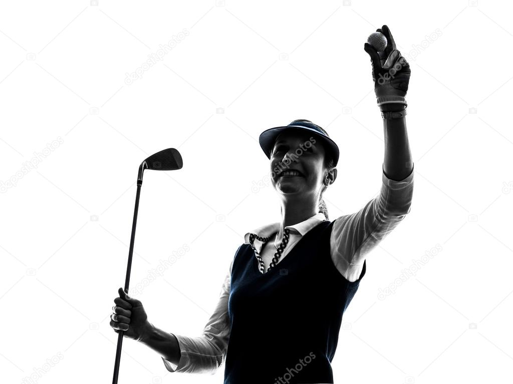 Woman Golfer Golfing Silhouette Stock Photo C Stylepics 71758075