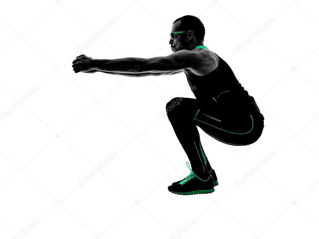 Silueta De Hombre Crossfit Ejercicios Fitness