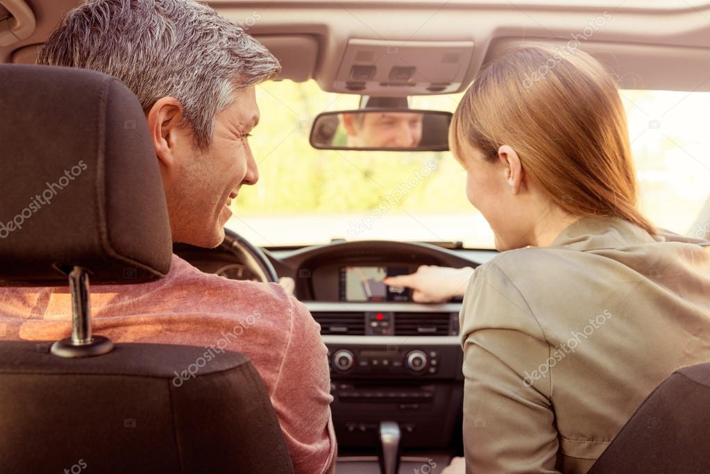 car trip couple