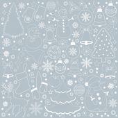 Karta s vánoční prvky