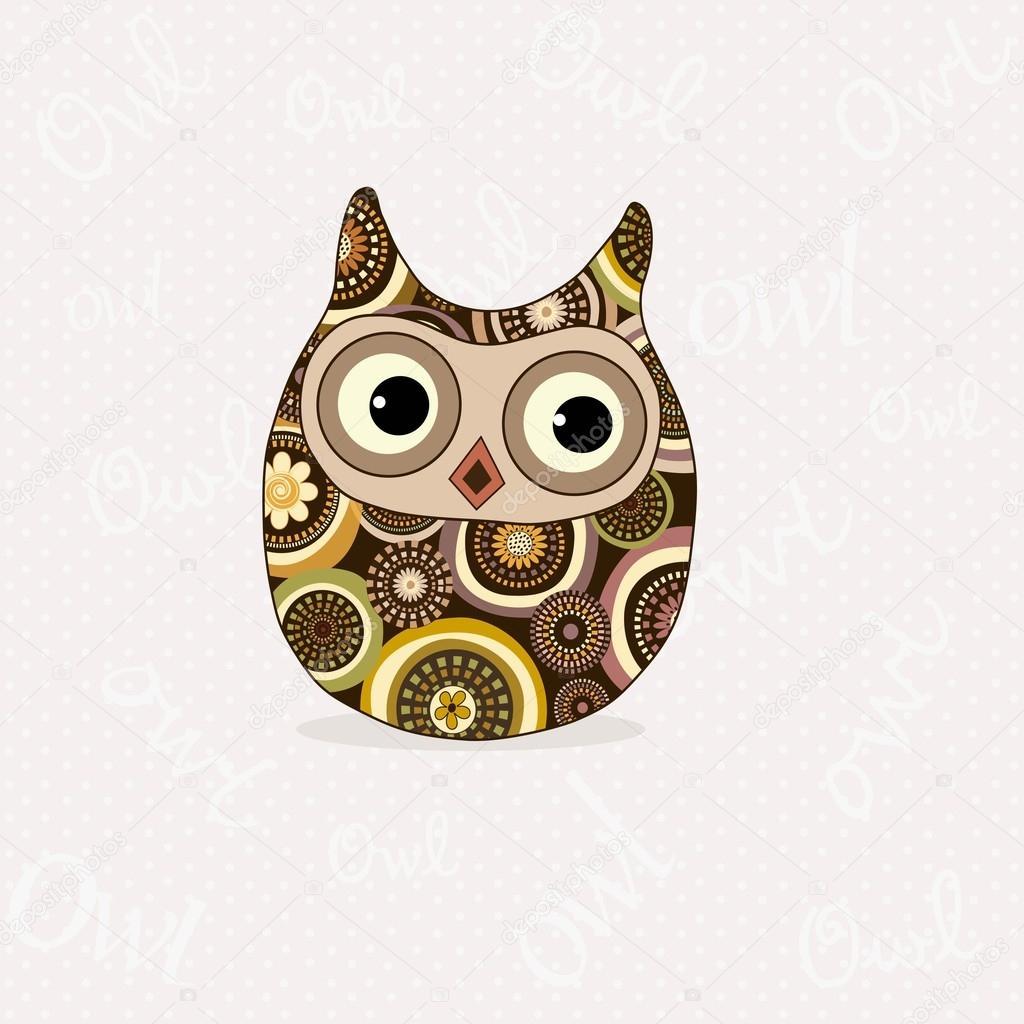 Chouette Dessin Stylisé chouette stylisée mignon — image vectorielle rodicabruma © #80648754
