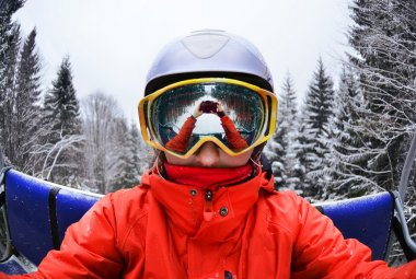Portrait of woman in Carpathian Mountains, Bukovel