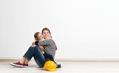 Family repairing home