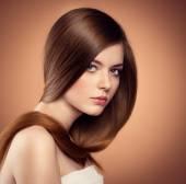 Fotografie Frau mit langen Haaren