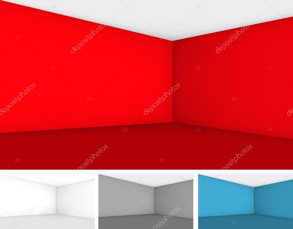 Empty room template — Stock Vector © iunewind #100371344