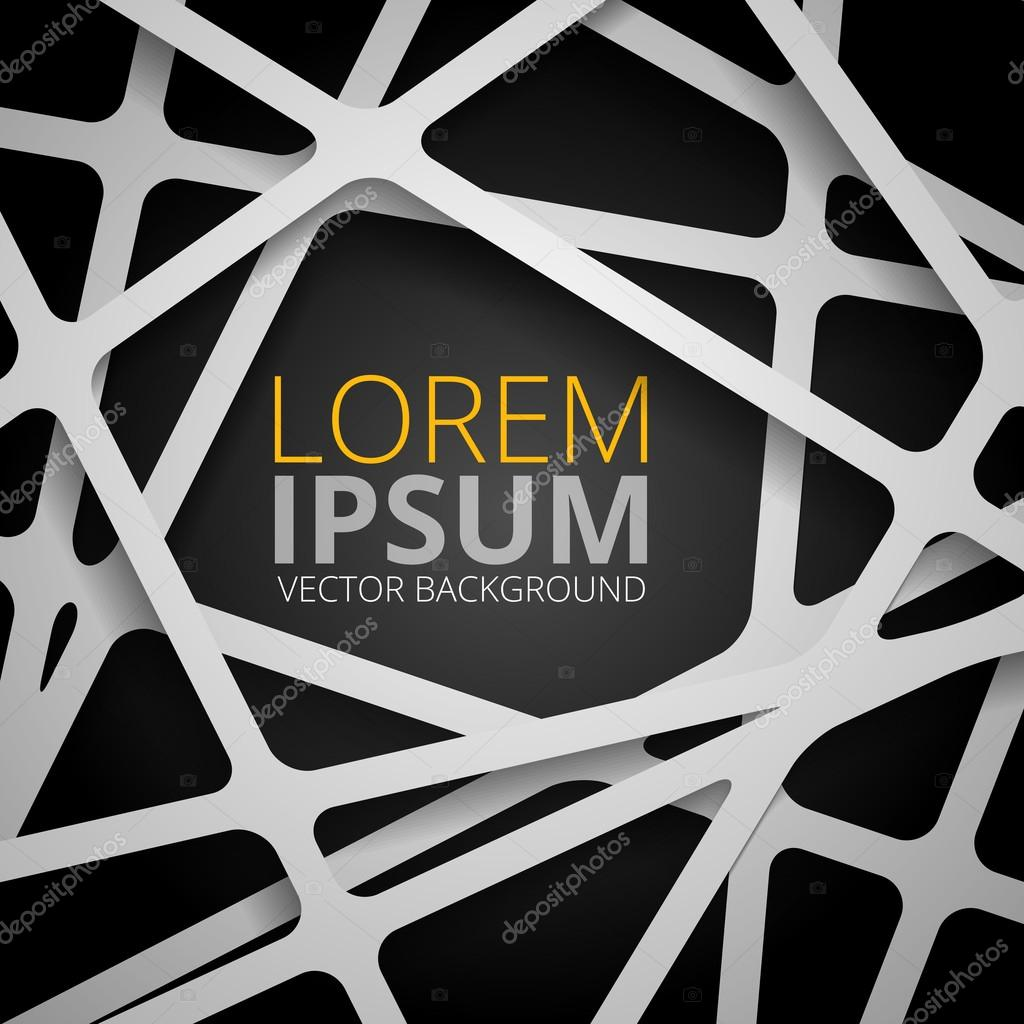 Crossed lines abstract vector background