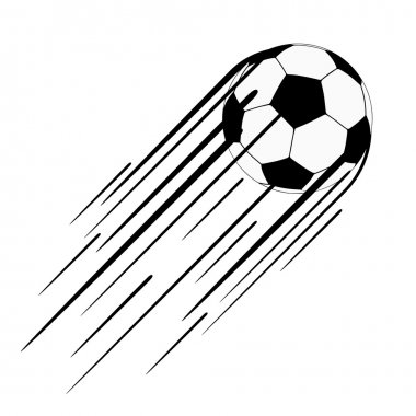 Soccer ball  with trail