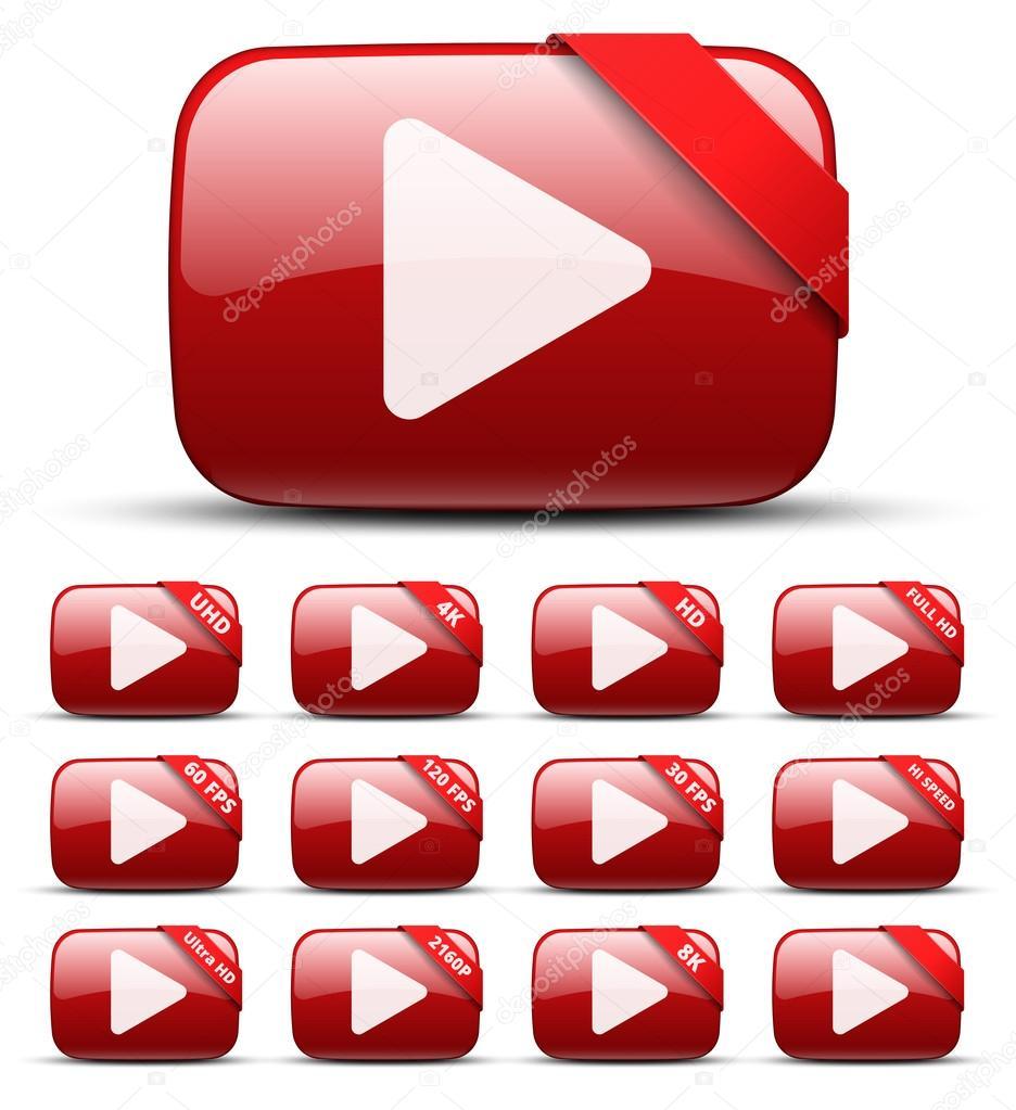 Video button — Stock Vector © iunewind #70843623