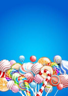 Lollipops background