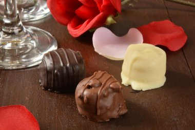 Assoted gorumet chocolates
