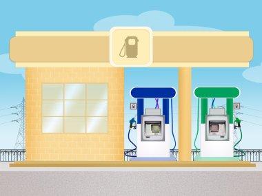 a petrol station