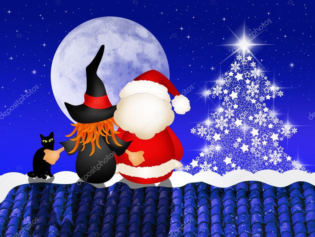 Befana E Babbo Natale.Immagini Befana E Babbo Natale Befana E Babbo Natale