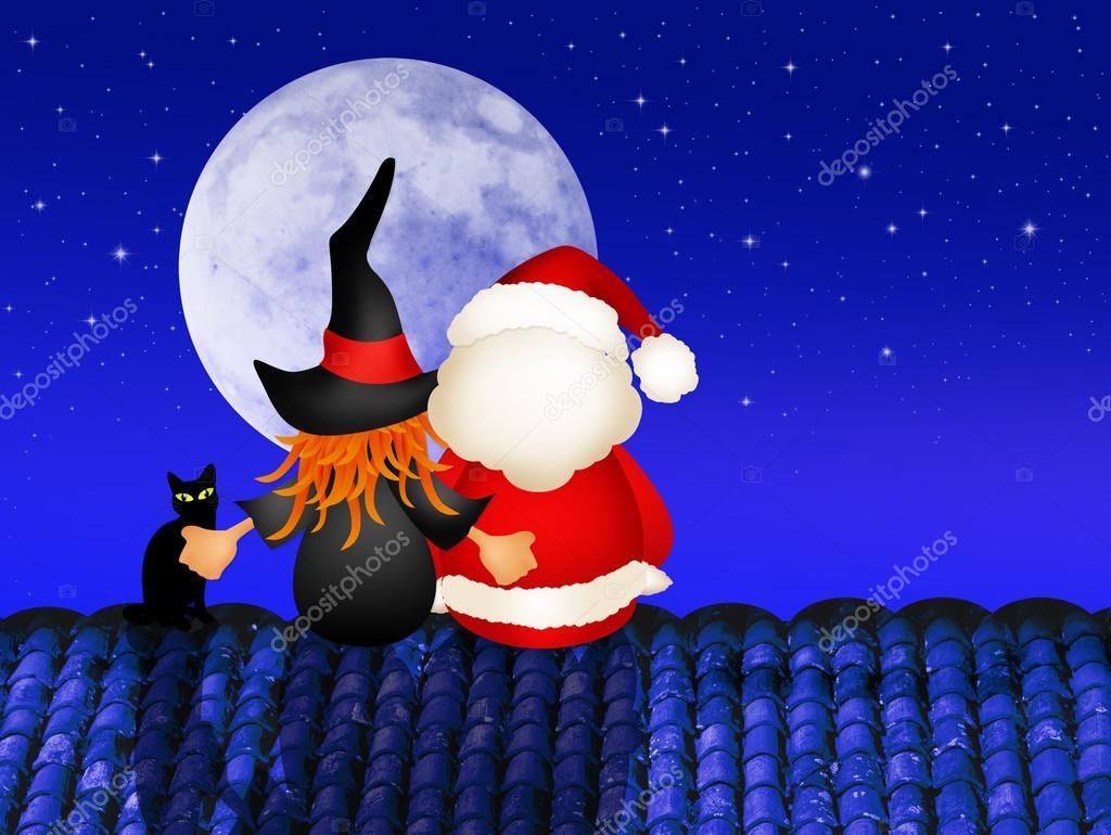 Befana E Babbo Natale.Befana E Babbo Natale Foto Stock C Adrenalina 58057323