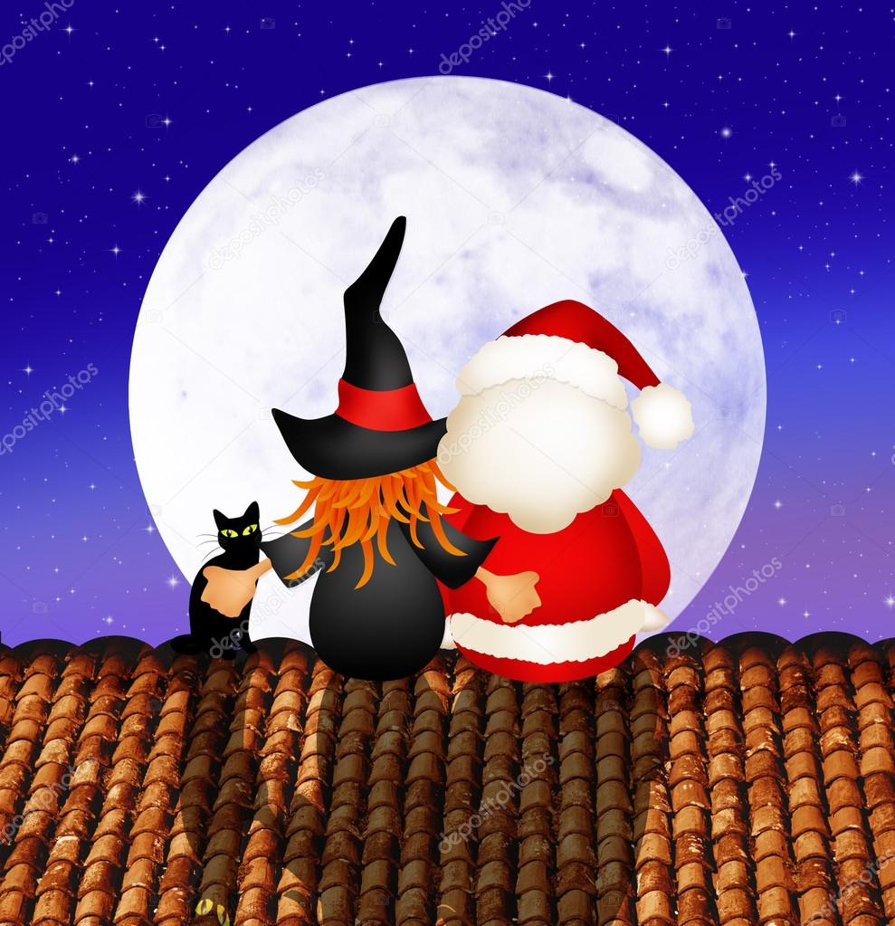 Befana E Babbo Natale.Foto Babbo Natale Alta Risoluzione Befana E Babbo Natale
