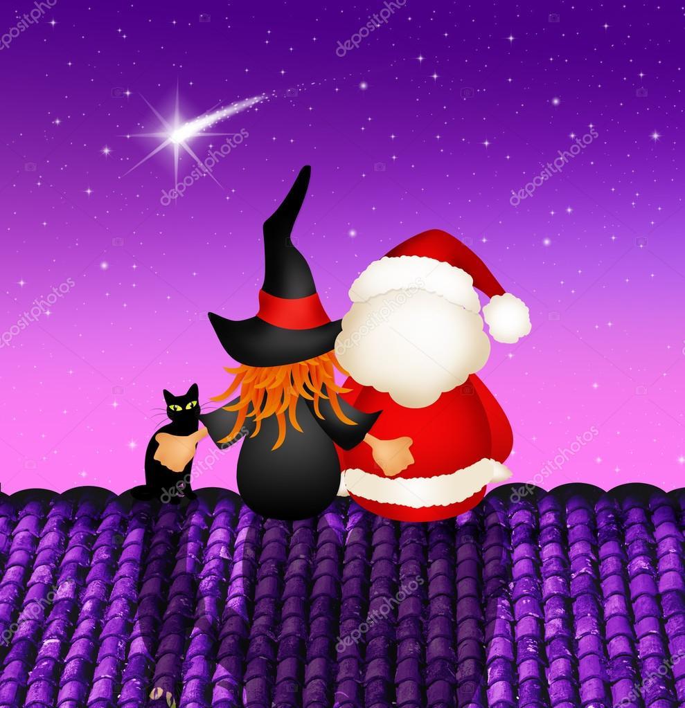 Befana E Babbo Natale.Befana E Babbo Natale Foto Stock C Adrenalina 58057471