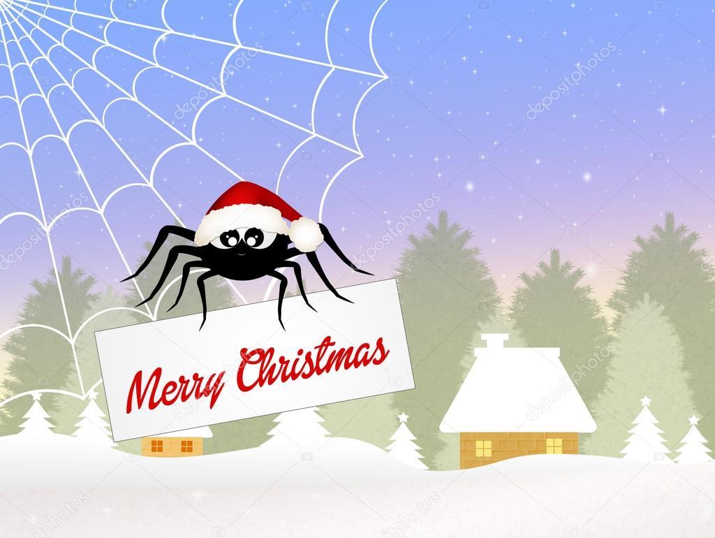 Spinne zu Weihnachten — Stockfoto © adrenalina #59103243