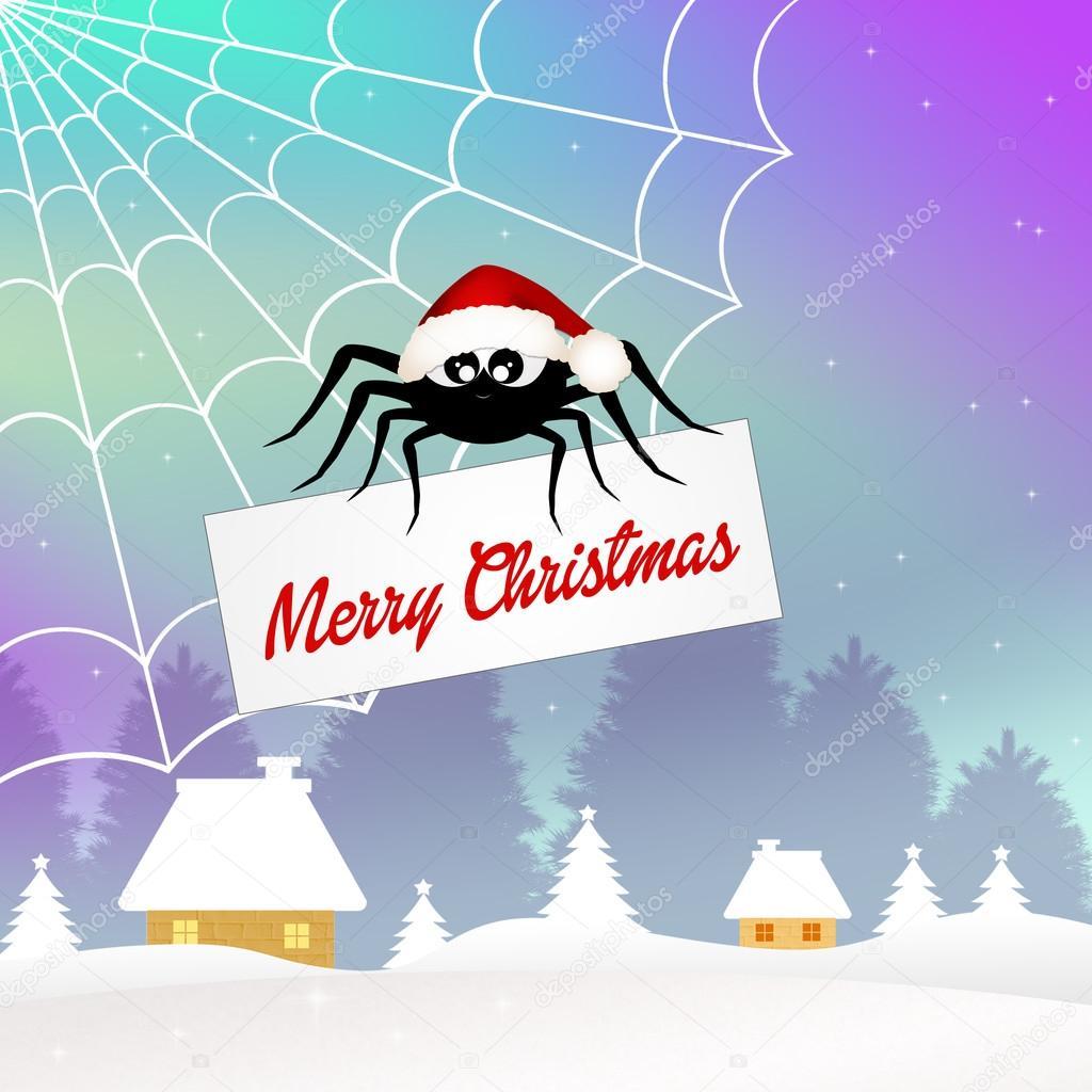 Spinne zu Weihnachten — Stockfoto © adrenalina #59103545