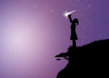 Girl with comet