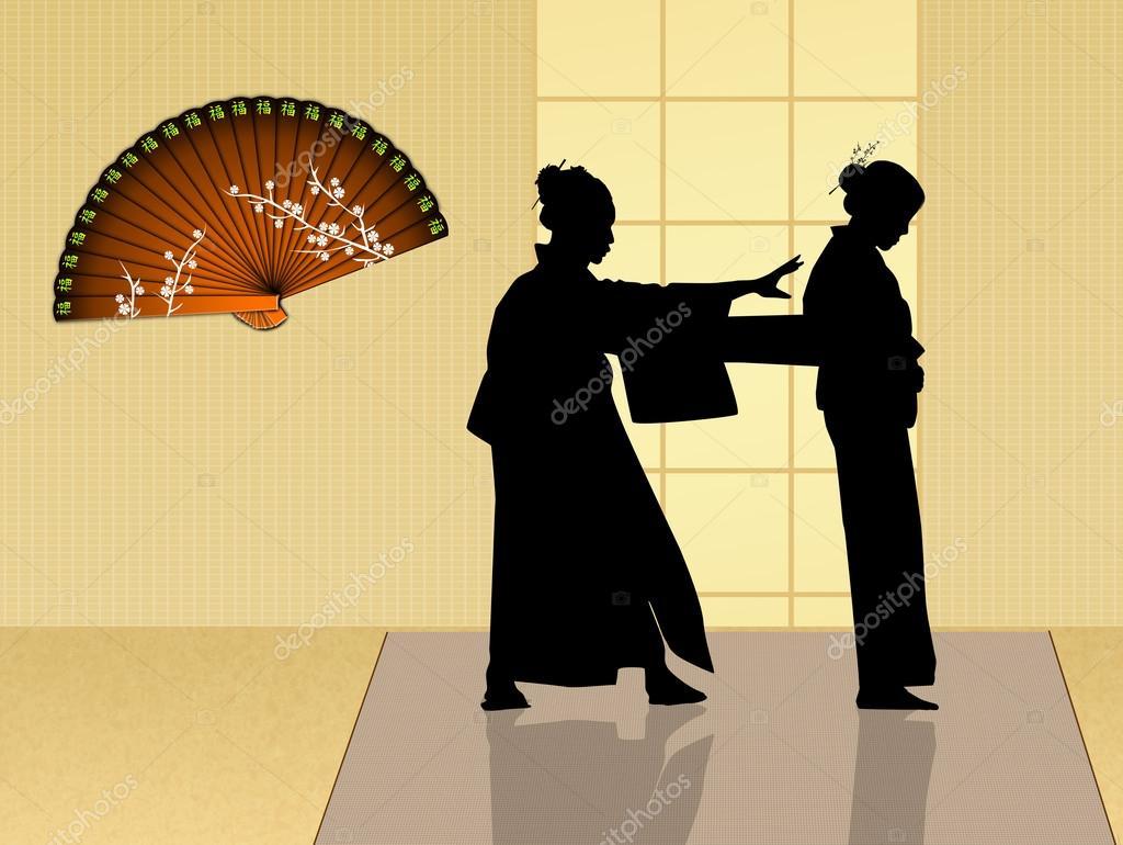 Wear the traditional kimono — Stock Photo © adrenalina #60440085
