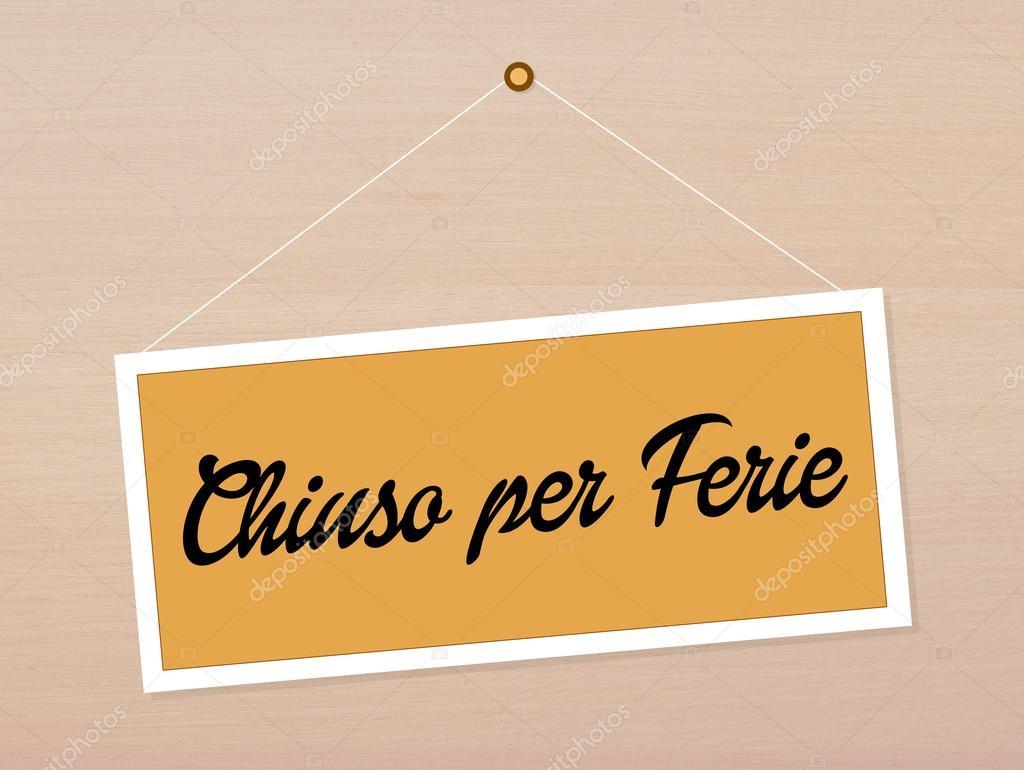 Chiuso Per Ferie Foto Stock Adrenalina 60648793