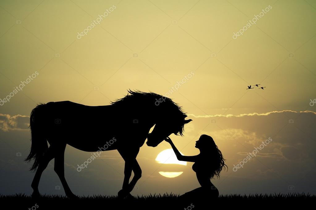 картинки девушка и лошадь