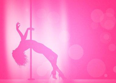 Girl dancing lap dance