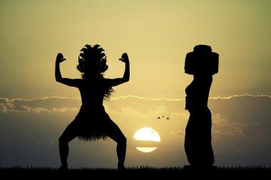 Maori dance on Easter Island